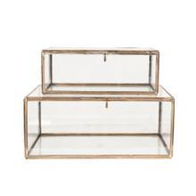 Sala Decorative Boxes Set/2, Antique Brass