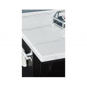 Aspen 3 Piece White Marble Kitchen Island Set (Island & 2 Stools)