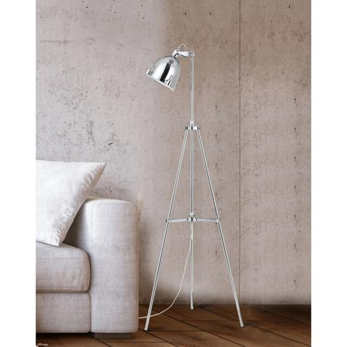 60W Hubble Metal Adjust Able Tripod Floor Lamp in Chrome