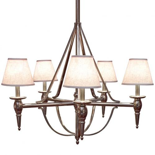 Rocky Mountain Hardware - Five-Arm Towne Chandelier - C500 Silicon Bronze Brushed with Taupe