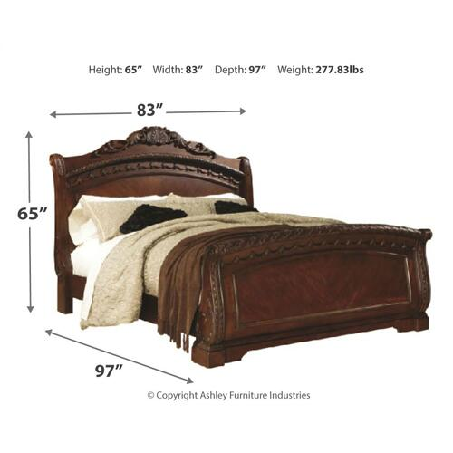 King Sleigh Bed With Dresser