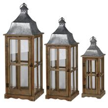 S/3 Window Scape Lanterns BRN