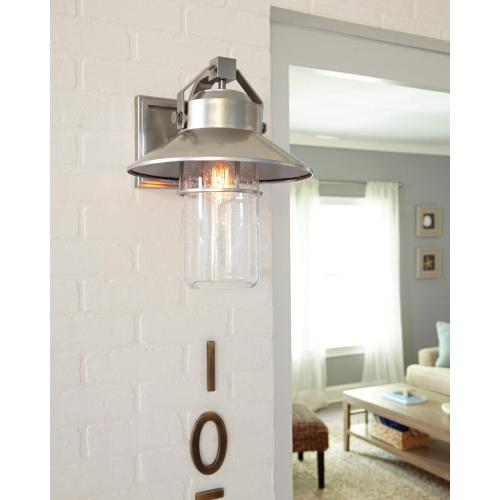 Boynton Small Lantern Painted Distressed Brass