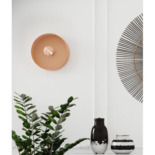 Tov Furniture - Mokhtar Blush Round Wall Sconce