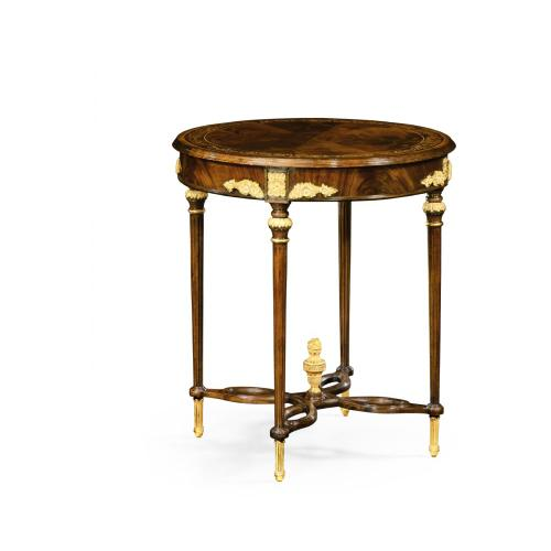Napoleon III mahogany centre table with gilded details