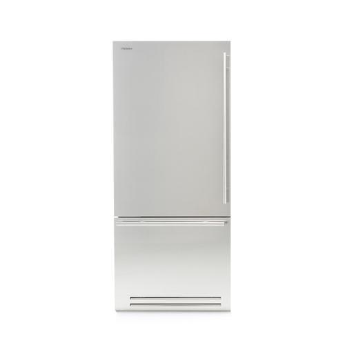 Fhiaba - Brilliance (Width: 36in, Configures: 1 Door + 1 Bottom Drawer + 2 Separate Temperatures (0t), Functions: Fridge + Freezer, Finish: Solid, Opening: Left, Icemaker: Yes)