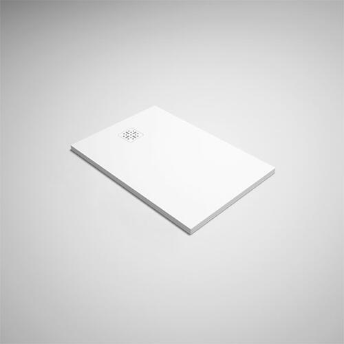 "blustone™ shower base White matte, 47 1/4"" x 31 1/2"" x 1 1/4"""