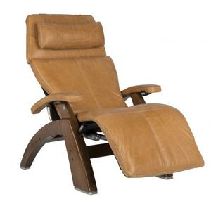 Perfect Chair ® PC-600 Omni-Motion Silhouette - Gray Premium Leather - Dark Walnut