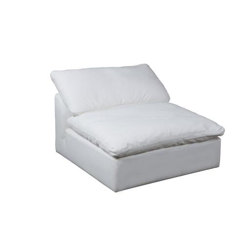 Cloud Puff Slipcovered Armless Sofa Sectional Modular Chair - 391081
