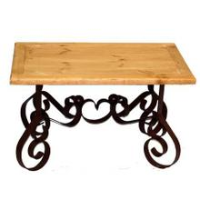 See Details - Bent Iron End Table