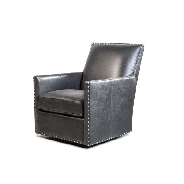 See Details - Dexter Swivel Chair in Cortina Black
