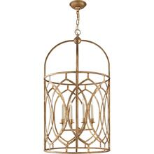 Visual Comfort CHC2536GI E. F. Chapman Marquise 6 Light 21 inch Gilded Iron Foyer Pendant Ceiling Light