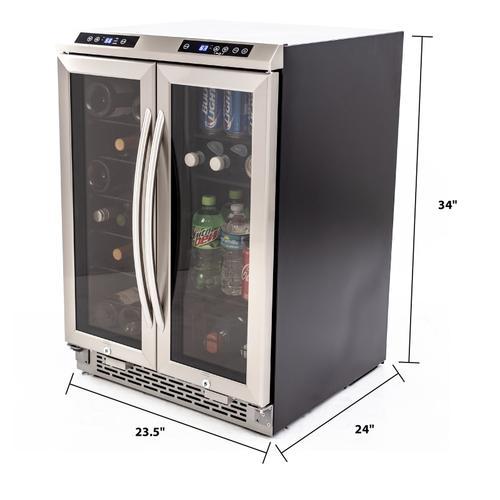 Avanti - 19 Bottle / 66 Can Dual-Zone Wine & Beverage Center