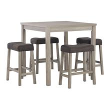 See Details - Loratti Counter Height Dining Table and Bar Stools (set of 5)