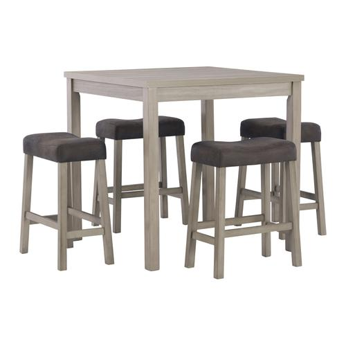 Gallery - Loratti Counter Height Dining Table and Bar Stools (set of 5)