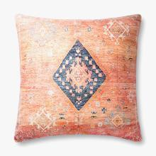 P0883 Poly Only Coral / Multi Pillow