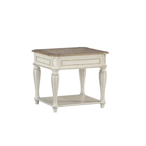 Stevenson Manor End Table, Distressed White