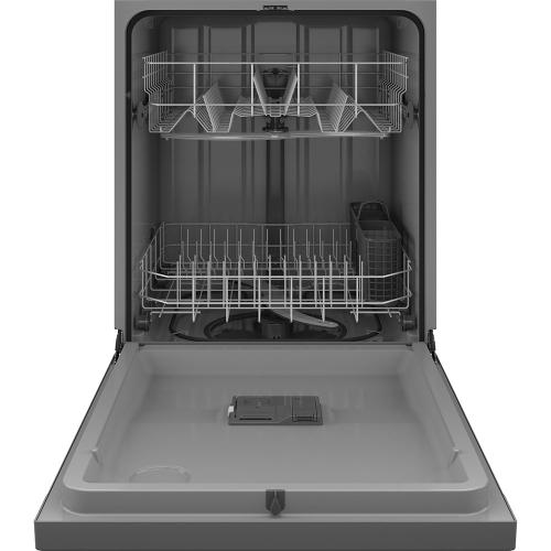 """GE 24"""" Built-In Front Control Dishwasher Stainless Steel - GDF510PSRSS"""