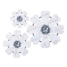 Loraine Wall Flowers - Set of 3