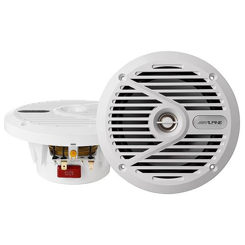 6.5 Coaxial 2-Way Marine Speaker with White Grilles