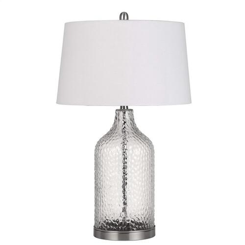 150W 3 Way Rimini Glass Table Lamp (Priced And Sold in Pairs)