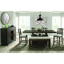 Colorado Counter Dining Set - Counter Table, Bench, and 4 Barstools