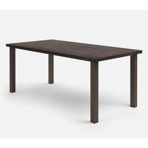 "42"" x 84"" Rectangular Balcony Table (with Hole) Ht: 34.25"" Post Aluminum Base (Model # Includes Both Top & Base)"