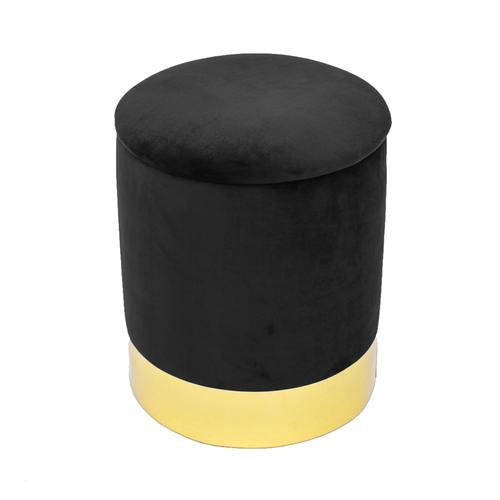 Tov Furniture - Pri Black Storage Ottoman
