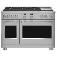 "48"" Smart Dual-Fuel Commercial-Style Range with 6 Burners and Griddle (Natural Gas)"