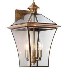 See Details - Virginia Triple Light Sconce - Brass