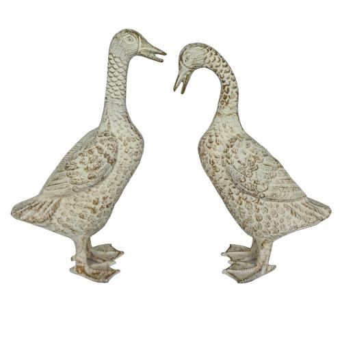 Daphne Pair of Ducks Sculptures,Set of 2
