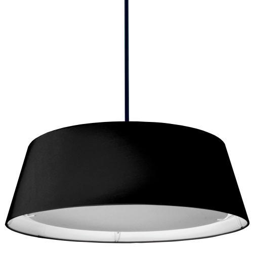 22w LED Tappered Drum Shd, Black