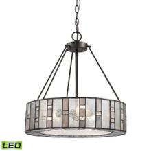 See Details - Ethan 3-Light Chandelier in Tiffany Bronze with Rippled / Art / Mercury Glass - Includes LED Bulbs