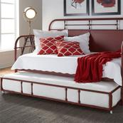 Twin Metal Trundle - Red
