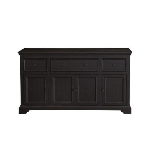 Four Door Cabinet in Antique Black