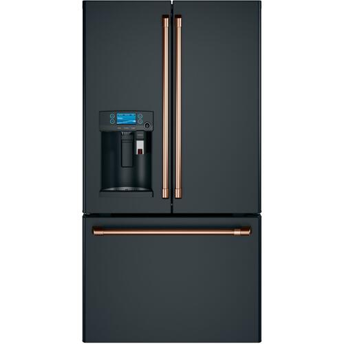 Cafe - Café™ ENERGY STAR® 22.1 Cu. Ft. Counter-Depth French-Door Refrigerator with Keurig® K-Cup® Brewing System