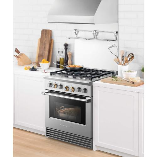"Dual Fuel Range, 30"", 5 Burners, LPG"