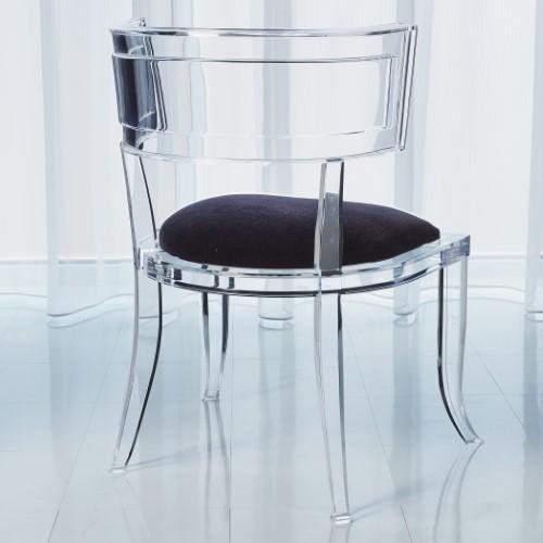 Klismos Acrylic Chair-Admiral Blue
