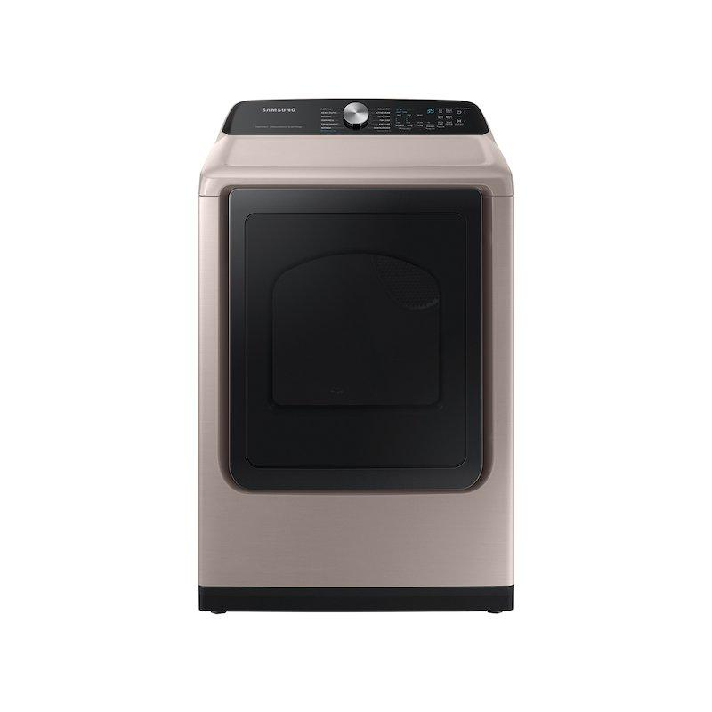 7.4 cu. ft. Smart Electric Dryer with Steam Sanitize+ in Champagne