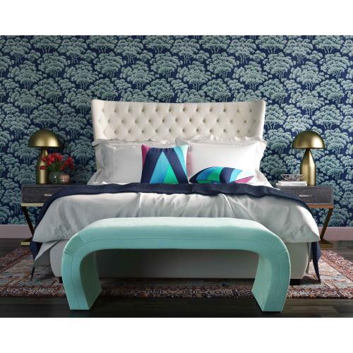 Product Image - Sassy Cream Velvet Queen Bed