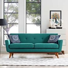 See Details - Engage Upholstered Fabric Loveseat in Teal
