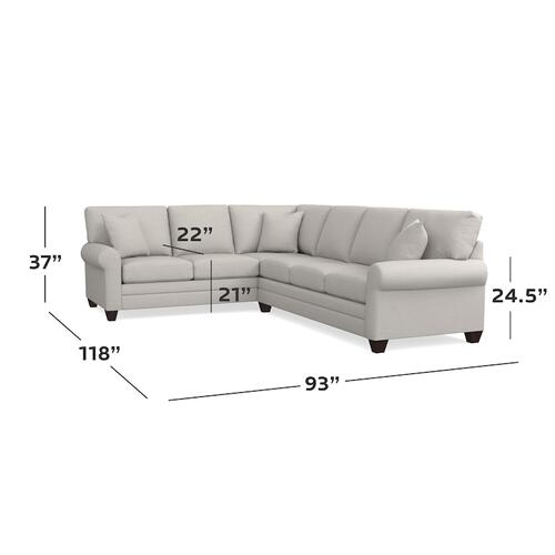 CU.2 Large L-Shaped Sectional, Arm Style Sock