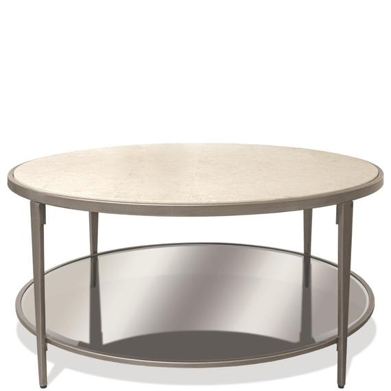 Riverside - Wilshire - Round Coffee Table - White Sands Finish