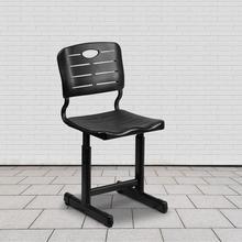 See Details - Adjustable Height Black Student Chair with Black Pedestal Frame