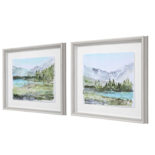 Plein Air Reservoir Framed Prints, S/2
