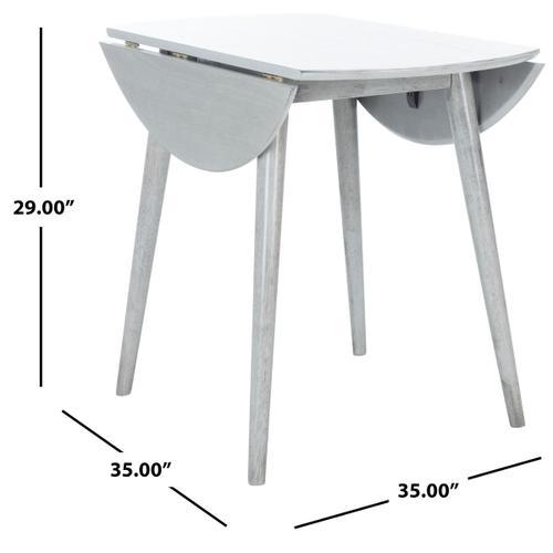 Lovell Folding Round Dining Table - Light Grey
