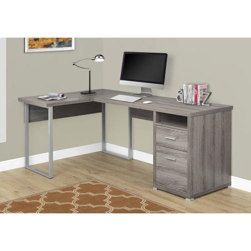 """COMPUTER DESK - 80""""L / DARK TAUPE LEFT OR RIGHT FACING"""