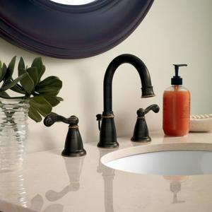 Traditional mediterranean bronze two-handle bathroom faucet