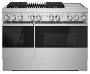 """NOIR™ 48"""" Dual-Fuel Professional-Style Range with Chrome-Infused Griddle and Grill"""