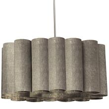 4lt Sandra Pendant Milano Grey Polished Chrome